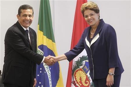 Los Presidentes de Brasil y Perú